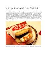 Ẩm thực Nhật Bản sandwich kikat nhật bản