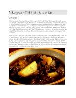 Ẩm thực nhật bản  thịt hầm khoai tây nikujaga
