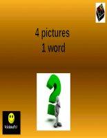 Game Ppt 4 PICS 1 WORD  số 2 hay, hiệu quả  Dạy học tiếng Anh hiệu quả cho bé