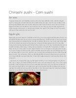 Giới thiệu Cơm sushi chirashi zushi