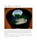 Ẩm thực nhật bản  súp nghêu