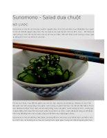 Giới thiệu salad dưa chuột sunomono nhật bản