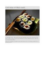 Giới thiệu sushi maki