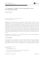 A comparative analysis of environmental courts in sweden and china pdf