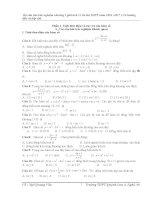 Bộ đề thi trắc nghiệm giải tích 12 chương I (Phần I)