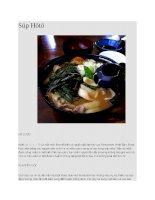 Ẩm thực nhật bản súp hōtō