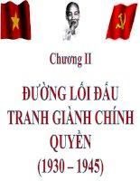 Bài giảng đường lối cách mạng đảng cộng sản việt nam chương 2
