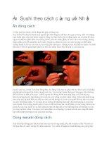 Cách ăn sushi theo kiểu của người nhật