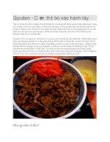 Giới thiệu Món cơm thịt bò gyudon