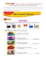 Bài tập tiếng anh lớp 5 (mới) Unit 2: My fiend's house
