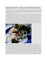 Giới thiệu  đồ muối tsukemono nhật bản
