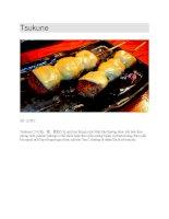 Ẩm thực nhật bản  thịt viên nướng tsukune