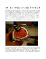 Giới thiệu dâu tây vị đào ở nhật bản