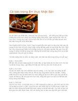 Giới thiệu cá bào trong ẩm thực nhật bản