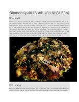 Ẩm thực nhật bản  okonomiyaki bánh xèo nhật