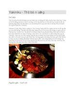 Ẩm thực nhật bản thịt bò nướng yakiniku