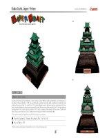 Mô hình lâu đài Osaka, Nhật Bản. P2