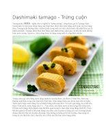 Cơm cuộn trứng dashimaki tamago