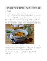 Giới thiệu Cơm trộn trứng tamago kake gohan