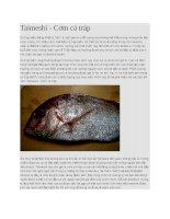 Cơm cá tráp taimeshi
