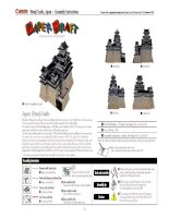 Mô hình lâu đài Himeji, Nhật Bản. P3