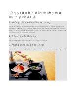 Giới thiệu 10 quy tắc cần biết khi thưởng thức ẩm thực Nhật Bản