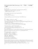 cách phân biệt cách dùng các câu thể điều kiện trong tiếng Nhật