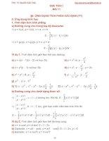 Bài giảng giải tích 1 bài 11
