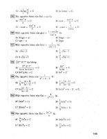 Trắc nghiệm giải tích 12 tự luận  trắc nghiệm (p3)
