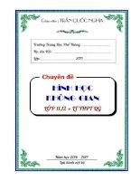 CHUYEN DE HINH KHONG GIAN