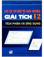 14 bai tap tu luan va trac nghiem giai tich 12 tich phan va ung dung (NXB dai hoc quoc gia 2008)   le hong duc, 208 trang