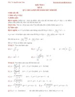 Bài giảng giải tích 1 bài 6