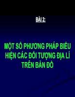 Bai 2 mot so phuong phap bieu hien cac doi tuong dia ly tren ban do1