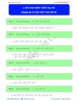 Chuyên đề luyện thi toán vào lớp 10