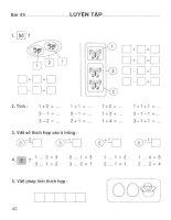 Vở bài tập toán lớp 1 (tập 1) phần 2   NXB giáo dục việt nam