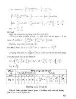 Trắc nghiệm môn toán năm cuối bậc THPT (p2)