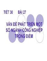 Bai 27 van de pha trien mot so nganh cong nghiep trong diem98