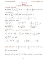 Bài giảng giải tích 1 bài 10