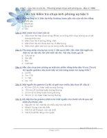 Câu hỏi + đáp án kiểm tra chụp ảnh phóng xạ bậc II