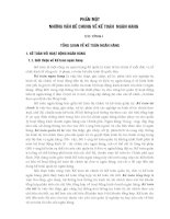 Giáo trình kế toán ngân hàng chương 1  tổng quan về kế toán ngân hàng