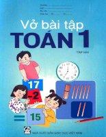 Vở bài tập toán lớp 1 (tập 2) phần 1   NXB giáo dục việt nam