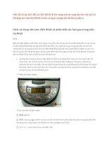 Cách sử dụng nồi cơm điện nhật và phân biệt các loại gạo trong siêu thị nhật