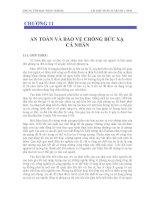 CHƯƠNG 11 AN TOÀN VÀ BẢO VỆ CHỐNG BỨC XẠ