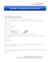 Thi online  luyện nghe chủ đề chỉ đường (1)