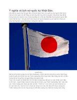 Ý nghĩa và lịch sử quốc kỳ nhật bản