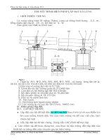 Biện pháp lắp đặt lò nung - nhà máy xi măng Thăng Long