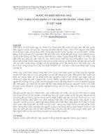 NƯỚC VÀ BIẾN ĐỔI KHÍ HẬU: THỬ THÁCH CHO QUẢN LÝ TÀI NGUYÊN NƯỚC TỔNG HỢP Ở VIỆT NAM