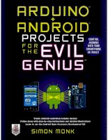 Arduino android projects for the evil genius  simon monk