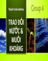 Thuyết trình sinh học bài 4, 5