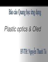 Bài thuyết trình Quang học ứng dụng: Plastic optics  Oled